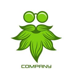 Cannabis man logo vector