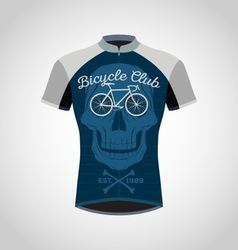 cycling shirts vector image vector image