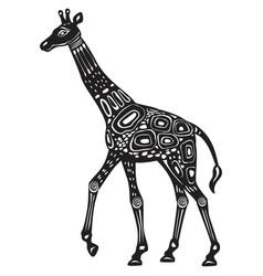 decorated stylized giraffe ethnic style vector image