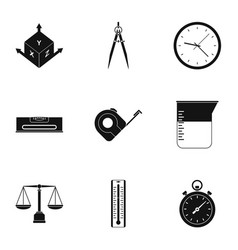 dimension icon set simple style vector image vector image