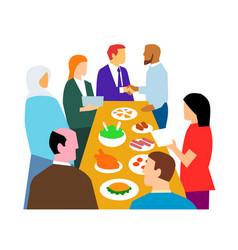 Diversity in workplace retro vector