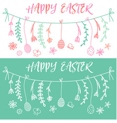easter banner set vector image