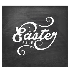 Easter Sale Typographical Text on Chalkboard vector