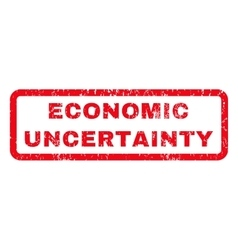 Economic Uncertainty Rubber Stamp vector image