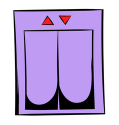 Elevator icon cartoon vector