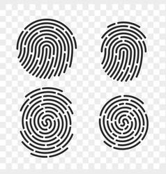 Fingerprint finger print logo line icons vector