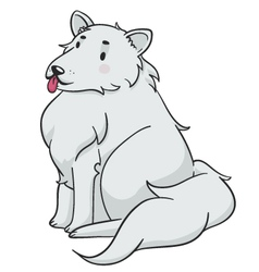 Fluffy Dog vector image