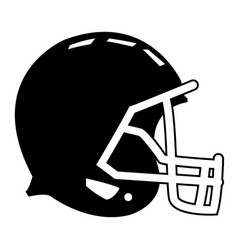 Football helmet protection equipment side view vector