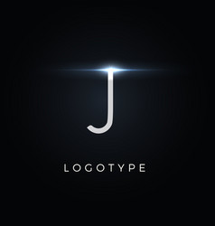Futurism style letter j minimalist type vector