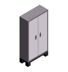 Garage wardrobe icon isometric style vector