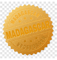 gold madagascar award stamp vector image