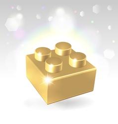 Golden construstion block award vector
