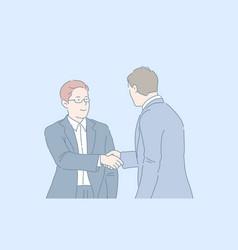 Handshake partnership deal concept vector