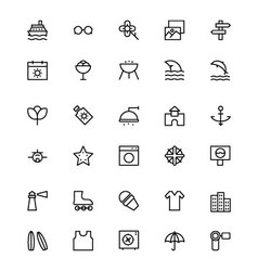 Holiday Line Icons 2 vector