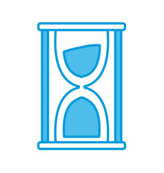 hourglass sand timer vector image