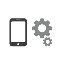 icon concept of smartphone with gears vector image