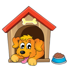 Image with dog theme 1 vector