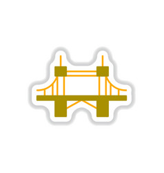 In paper sticker style metal vector