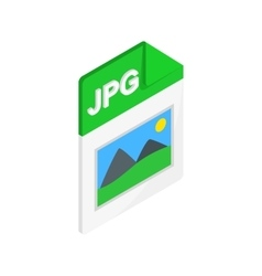 JPG file icon isometric 3d style vector