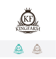 King farm logo vector