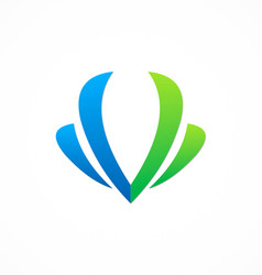 letter v beauty company logo vector image