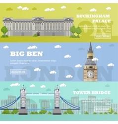 London tourist landmark banners vector
