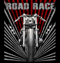Motorcycle racing typography graphics old school vector
