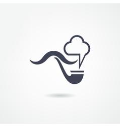 moustache icon vector image