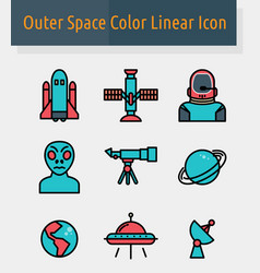 outer space color icon vector image