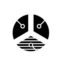 Proportion black icon concept vector
