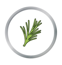 Rosemary icon in cartoon style isolated on white vector