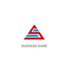 S initial triangle logo vector