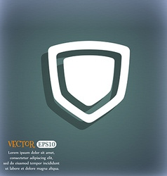 shield icon symbol on the blue-green abstract vector image