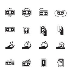 simple icon money vector image