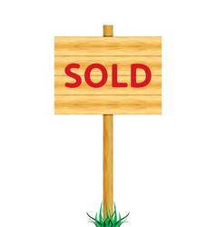 Sold board vector