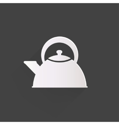 Teapot icon coffee pot symbol vector
