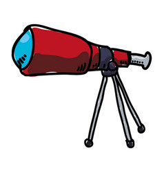 telescope science device vector image