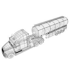 Truck cistern isolated on vector