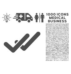 Validation Icon with 1000 Medical Business vector