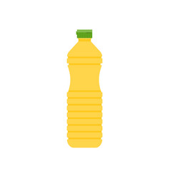vegetable cooking oil in plastic bottle icon vector image