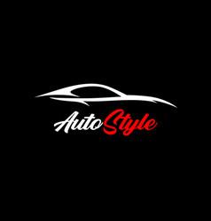 Vehicle silhouette logo vector