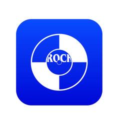 vinyl icon digital blue vector image