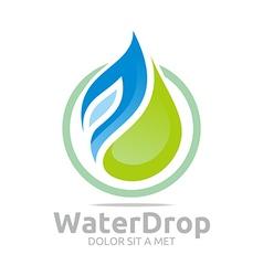 Water drop pure symbol icon business design vector