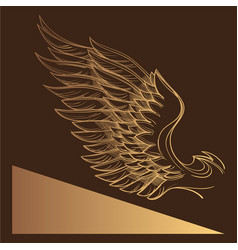 wing element in the style of boho contour for the vector image