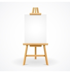 Wooden easel empty vector image