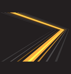 yellow light grey line arrow direction speed vector image