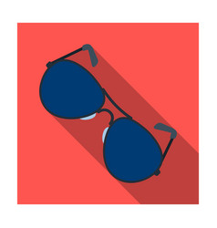 aviator sunglasses icon in flat style isolated on vector image