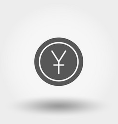 money sign coin yuan vector image