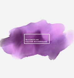 purple abstract watercolor stain vector image vector image