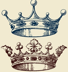Royal Crowns vector image vector image